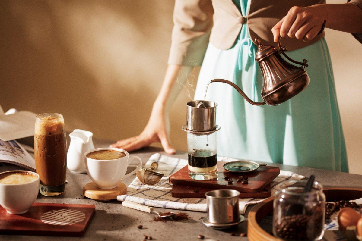 pha chế cà phê